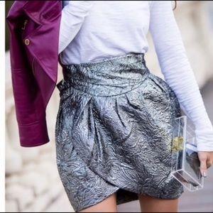 Isabel Marant for H&M Silver Tulip Mini Skirt